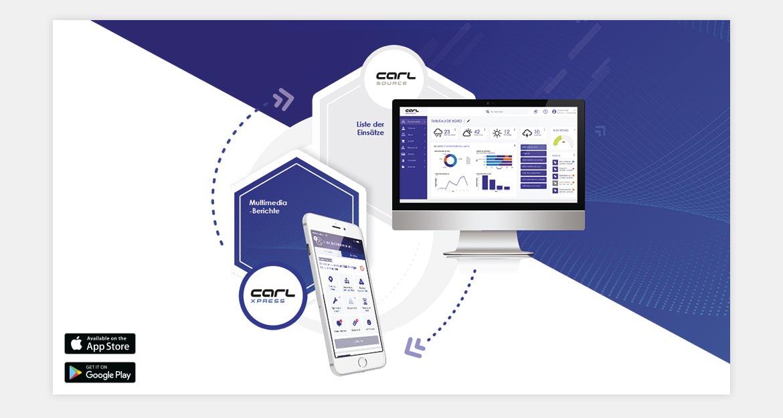 Anwendungsprozess CARL XPRESS: Express-Berichte über durchgeführte Arbeiten.